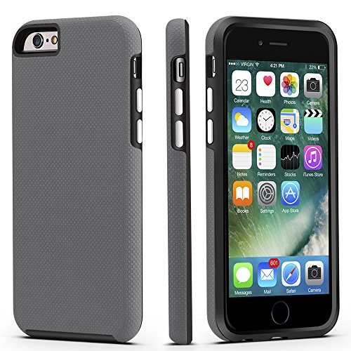 iPhone 6/6s Case, CellEver Dual Guard Protective Shock-Absorbing Scratch-Resistant Rugged Drop Protection Cover for Apple iPhone 6/6S (Slate)