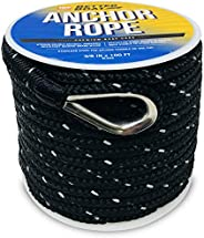 Premium Anchor Rope Double Braided Boat Anchor Line 100 ft