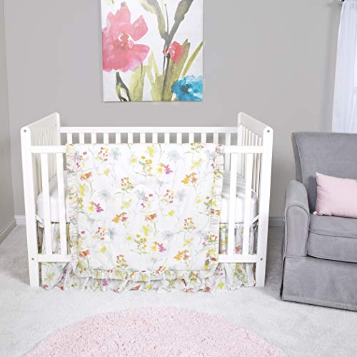 (Trend Lab Wildflowers 3 Piece Crib Bedding/Nursery Set)