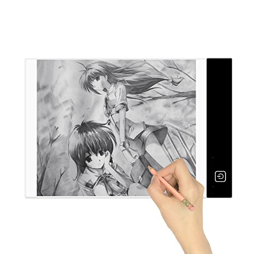 Lifecolor A4 Portable LED Artcraft Light Box,4mm Ultra-thin X-ray Viewing Tracing Light Pad Copyboard with USB Power Plug for Artists,Drawing,Sketching,Animation