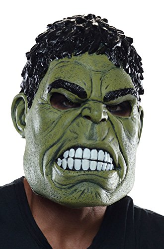 Rubie's Costume Co Men's Avengers 2 Age Of Ultron Hulk Adult 3/4 Mask, Green, One (The Avengers Hulk Muscle Adult Plus Costumes)