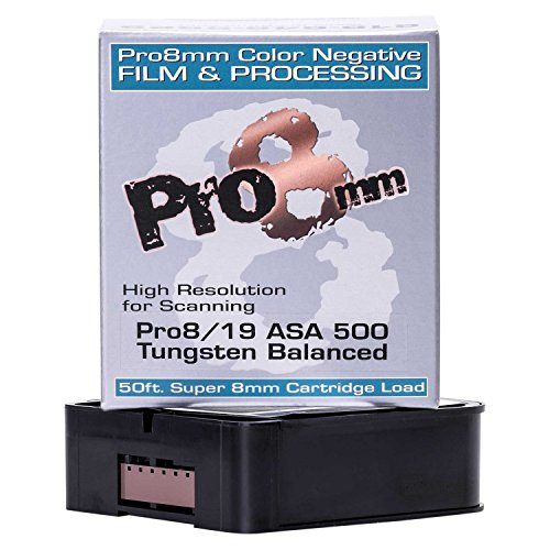 Price comparison product image Pro8mm 748252941404 Pro8-19 500T Super 8mm Film Stock with Processing (Color)