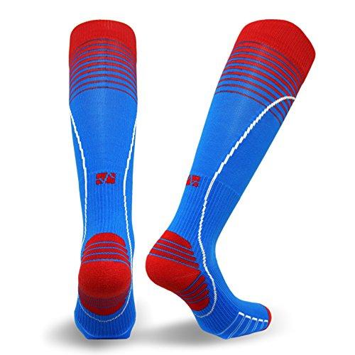 Vitalsox Italian Premium Patented Graduated Compression Silver Drystat Running Socks(1Pair-Compression), Turquoise, Medium
