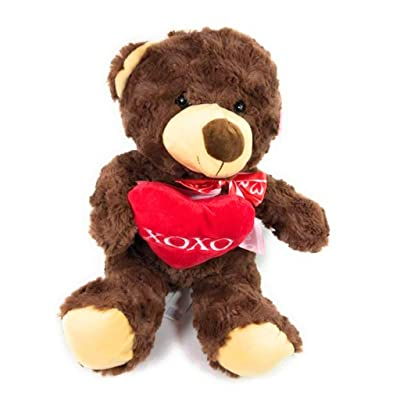 Hug Me Bear with Colored Heart XOXO 11 in.: Toys & Games