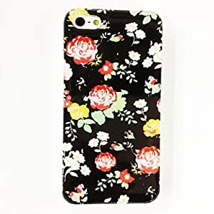 GJYRose Flowers Pattern Plastic Hard Case for iPhone 5/5S , Multicolor