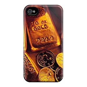 Hot Tpu Cover Case For Iphone/ 4/4s Case Cover Skin - Ounces Of Gold
