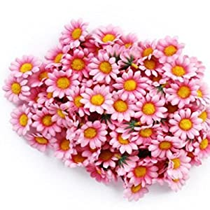 Bluefun 100pcs Silk Sunflower Handmake Artificial Flower Head Wedding Decoration DIY 12