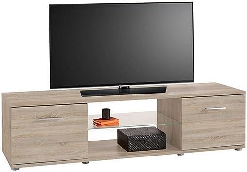 Mueble para televisor TV-cómoda tabla de madera de roble Sonoma ...