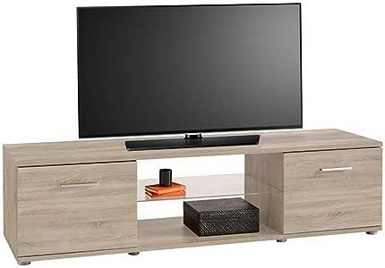 Mueble para televisor TV-cómoda tabla de madera de roble Sonoma personaadecuada mueble de la sala de estar: Amazon.es: Electrónica