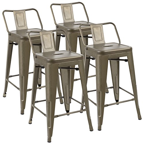 JUMMICO Metal Bar Stools 24
