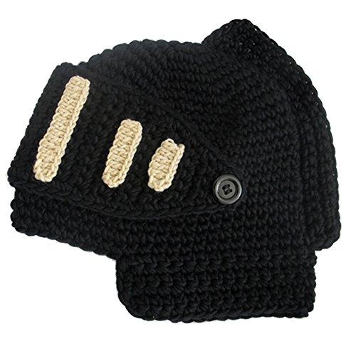 Adulto cálido de sombrero Negro de Soft Gorro libre lana regalo Máscara invierno de Beanie aire Desmontable Cap Caballero gladiador Unisex Romano Negro Wind al A68Yqdd