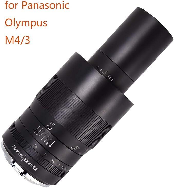 7artisans F2.8 APS-C Lente Macro Fija para cámaras Panasonic Olympus Four Thirds MFT M4/3 sin Espejo, Enfoque Manual para fotografía Macro: Amazon.es: Electrónica