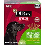 Ol' Roy Multi-Flavor Basted Biscuits Large Breed Dog Treats, 15 Lb For Sale