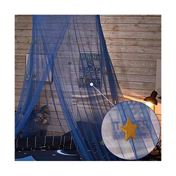 ZXYSR Zanzariera per Cameretta dei Ragazze, Letto A Baldacchino per Bambini Cupola Rotonda Tenda Kids Princess Play… 4 spesavip
