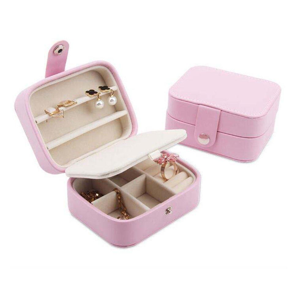 Daeou Joyero portátil portátil portátil Mini caja de almacenamiento lindo joyas Tamaño: 110   90   55mm 1d8edc