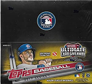 2017 MLB Baseball Series One Unopened Factory Sealed Retail Box with 24 Packs of 12 Cards each (288 cards total)