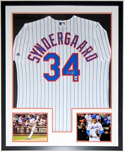 Noah Syndergaard Signed Majestic New York Mets Jersey - Fanatics & MLB COA Authenticated - Professionally Framed & 2 8x10 Photo - Framed Field Jacobs