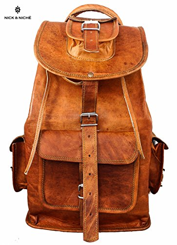 NICK   NICHE Black Friday Deal   Christmas Gift Bag Handmade Vintage Style Genuine  Leather Travel Bag backpack Cabin Bag for students  Amazon.co.uk  ... 0ab7f411778a7
