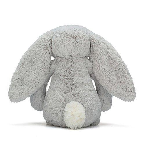 color gris Peluche conejo Jellycat BAS3BS