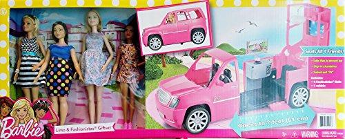 Barbie Limo Fashionista Giftset with 4 Dolls (Radio De Barbie)