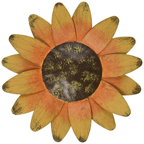 Craft Outlet Tin Sun Flower Magnet, 4-Inch, Set of 4