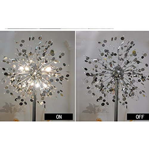 GDNS 24W Warm LED Imitate Crystal Floor Lamp,19.519.571 Inch LWH by GDNS (Image #8)