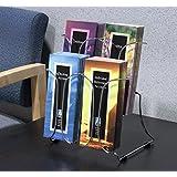 """Displays2go Tabletop Brochure Holder for 4"""" x 9"""" Pamphlets, Steel Wire Design, 4-Pocket, Set of 3 (4PCKLHCRM) by Displays2go"""