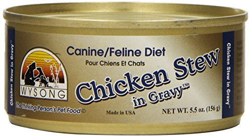 Wysong Chicken Stew In Gravy Canine/Feline Canned Diet, 5.5-Ounce