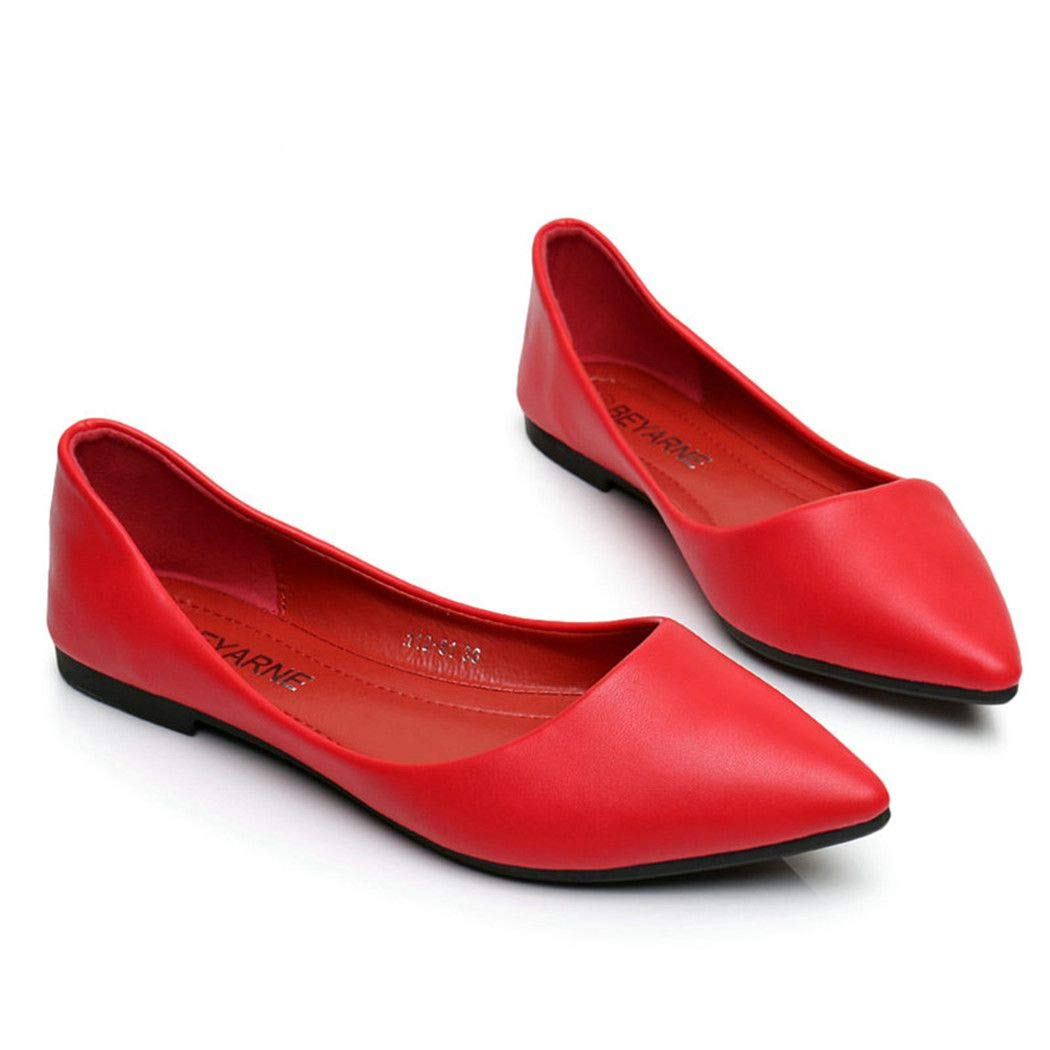 2019 Womens Sandals Shoe Woman Genuine Leather Flat Shoes Fashion Hand-Sewn Black 5 M US
