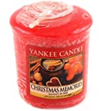 "Yankee Candle 1275319E Candele ""Christmas Memories"", Cera, Rosso, 4.5 x 4.5 x 5.3 cm"