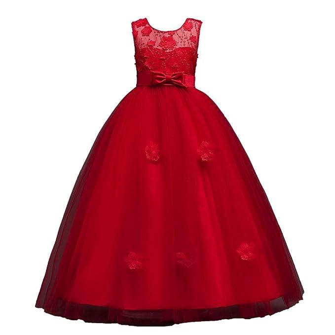 Vestito Principessa per Ragazza Pizzo Abiti da Sera Matrimonio . b14e03f312f
