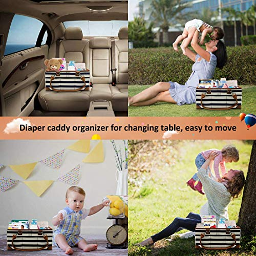 Diaper Caddy Organizer, Baby Diaper Caddy Organizer, Large Portable Baby Shower Caddy For Diaper and Baby Stuffs-Boys and Girls Nursery Storage Bin.