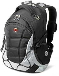 SwissGear SA9769 Black with Light Grey Laptop Computer Backpack - Fits Most 15 Inch Laptops and Tablets