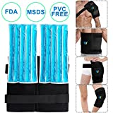YT Reusable Gel Ice Pack & Wrap,Large Hot Cold Therapy for Hip,Shoulder,Back,Knee,Pain Relief for Injuries Swelling Aches Bruises Sprains 14''X13'' (Blue, X-Large)