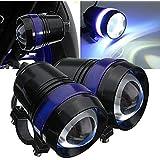 Tuincyn U3Motor de Moto LED lámpara bombilla faro luces resistente al agua 6000K luz blanca Universal Moto bombilla LED proyector de luz de día (Pack de 2).