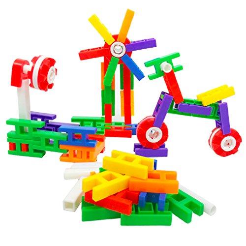 MICHLEY 220 Pcs Building Block for Kids Interlocking Building Blocks Play Educational Toy Set