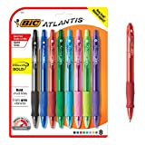 BIC Velocity Bold Bolígrafo retráctil de punta redonda, punta gruesa (1.6mm), color negro, 12unidades, Recargable, Variados, 8-Count