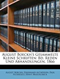 August Boeckh's Gesammelte Kleine Schriften, August Boeckh and Ferdinand Ascherson, 114875458X