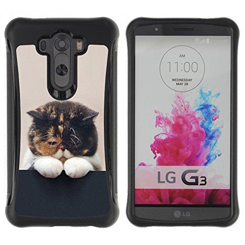 STPlus Gato en una caja Animal Carcasa Funda de Caucho Blando A Prueba de Choques Para LG G3 #2