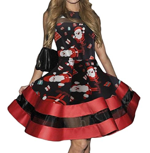 Mesh Dresses 1 Skirt Womens Floral Comfy Printed A Line Christmas pfPxBSqn