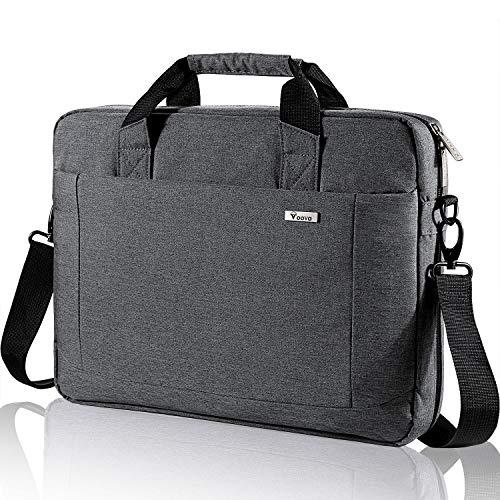 Voova Laptop Bag Case 14 15 15.6 Inch Computer Sleeve Messenger Bag with Shoulder Strap Expandable W