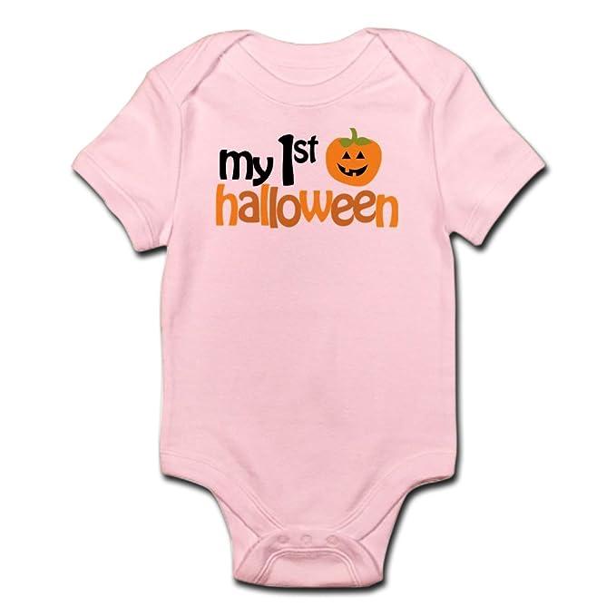 CafePress My 1St Halloween Cute Infant Bodysuit Baby Romper Petal Pink f2fa9e7e2