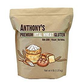 Anthony's Vital Wheat Gluten Natural, 4lbs, High in Protein, Vegan, Non GMO, Keto Friendly