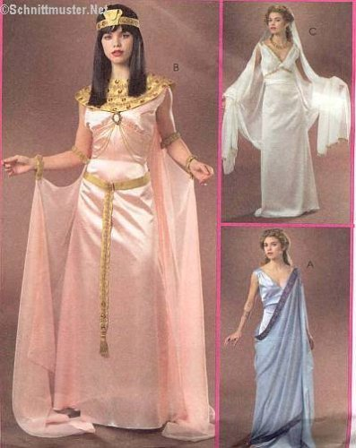RARE UNCUT MCCALL'S M4954 MISSES' COSTUMES - EGYPTIAN, GREEK, PRINCESS/GODDESS STYLE SEWING PATTERN SIZE: EE (Greek Costume Patterns)