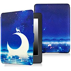 Case for kindle paperwhite-Original Design Case Skin with Auto Wake / Sleep for kindle paperwhite (Fits 2012, 2013, 2015 and 2016 Versions) (Crescent and deer)