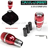 automatic chevy shift knob - For Thread Size M12 M8 M10 USA RED/Chrome Metal Automatic Shift Knob W/ Button