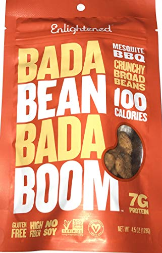 Enlightened Bada Bean Bada Boom Crunchy Broad Beans 4.5oz - 3 Bags (BADA BEAN MESQUITE BBQ 4.5oz ()
