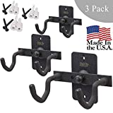 Hold Up Displays Handgun Hanger and Gun Storage (3 Pack) for Holding Colt Smith and Wesson SIG Ruger Pistols - Heavy DutySteel - Made in USA