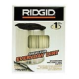RIDGID VF4000 Shop Vac Filter 1 Layer Wet Dry 5-20 Gal & 6-9 Gal Husky Vacuum