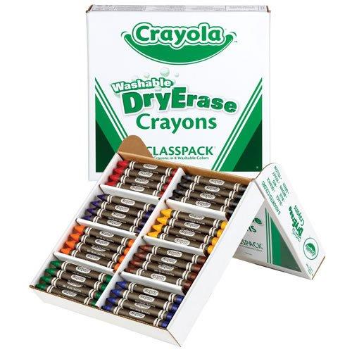 Crayola Dry Erase Classpack Crayons (96 Count) (Dry Erase Neon Crayons)